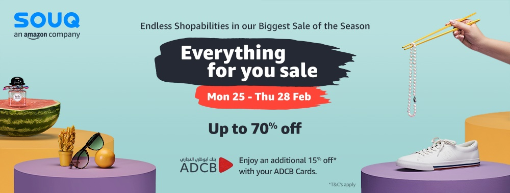 Ads SOUQ's 'Everything For You Sale' is Back, Offering